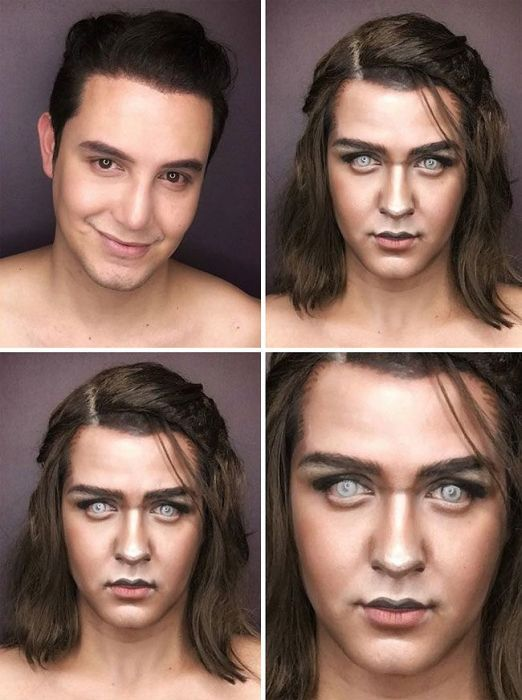 "Makeup Artist Himself Can Replace The Entire Female Part Of ""Game of Thrones"" (7 pics)"