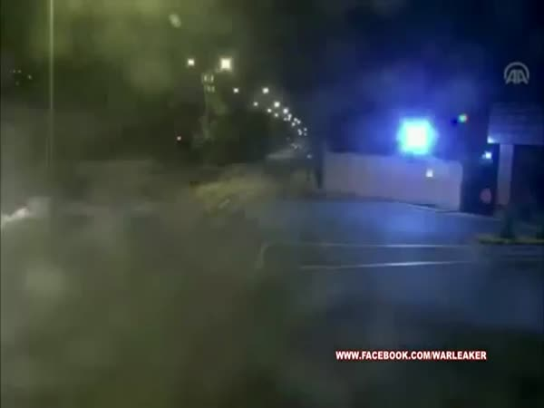 Cobra Attack Helicopters Firing On Turkish Police Vehicles