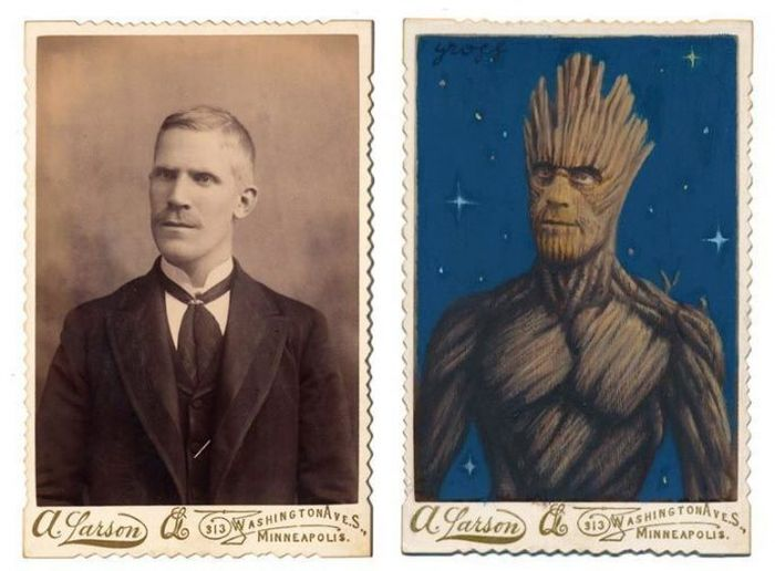 Artist Turns People In Vintage Pictures Into Epic Looking Superheroes (21 pics)
