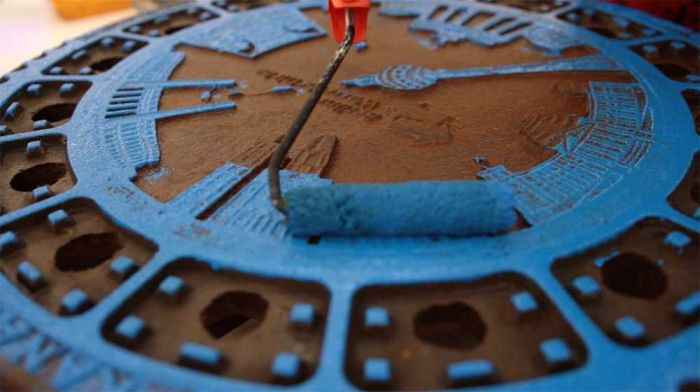 Berlin Artists Create Designer Clothes Using Manhole Covers (7 pics)