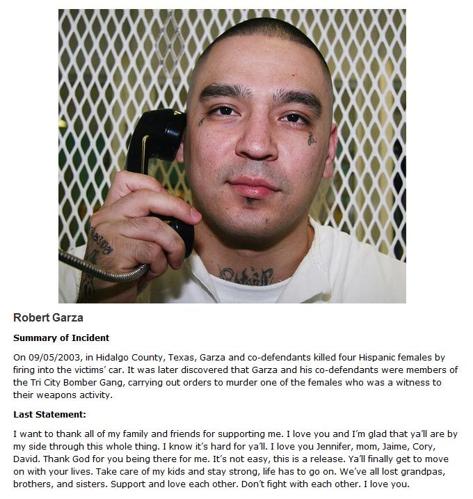 Chilling Last Words Of Death Row Inmates Revealed (10 pics)