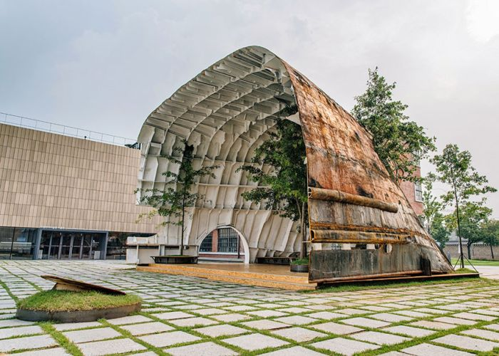 Old Rusty Ship Transformed Into A Stunning Pavilion (8 pics)