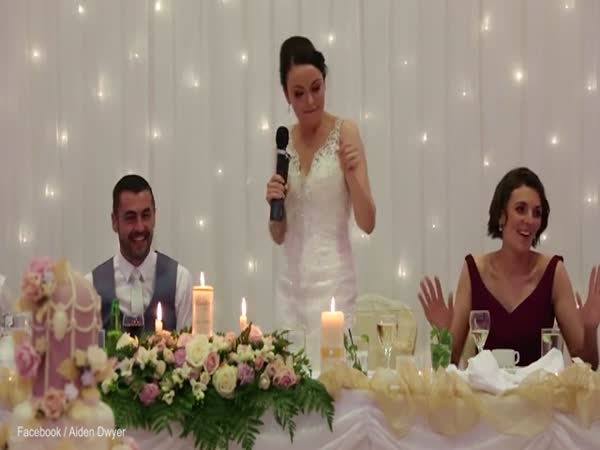 Bride Raps Along To Ice Ice Baby During Speech To New Husband