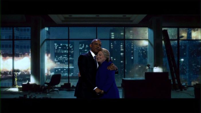 The Internet Turned Barack Obama's Embrace With Hillary Clinton Into A Hilarious Meme (18 pics)