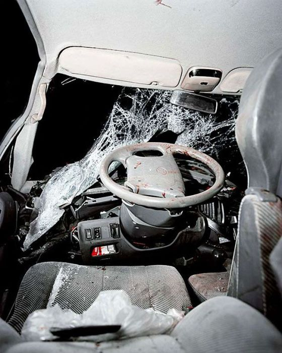 What The Inside Of A Car Looks Like After An Accident (13