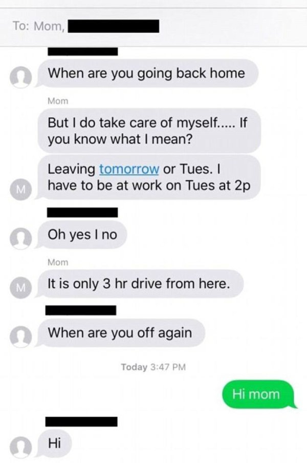 Daughter Gets Added To Her Mom's Sexting Chat And Lives To Tell About It (5 pics)