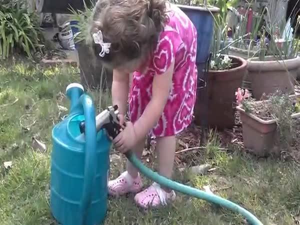 Little Girl Falls Victim To A Classic Prank
