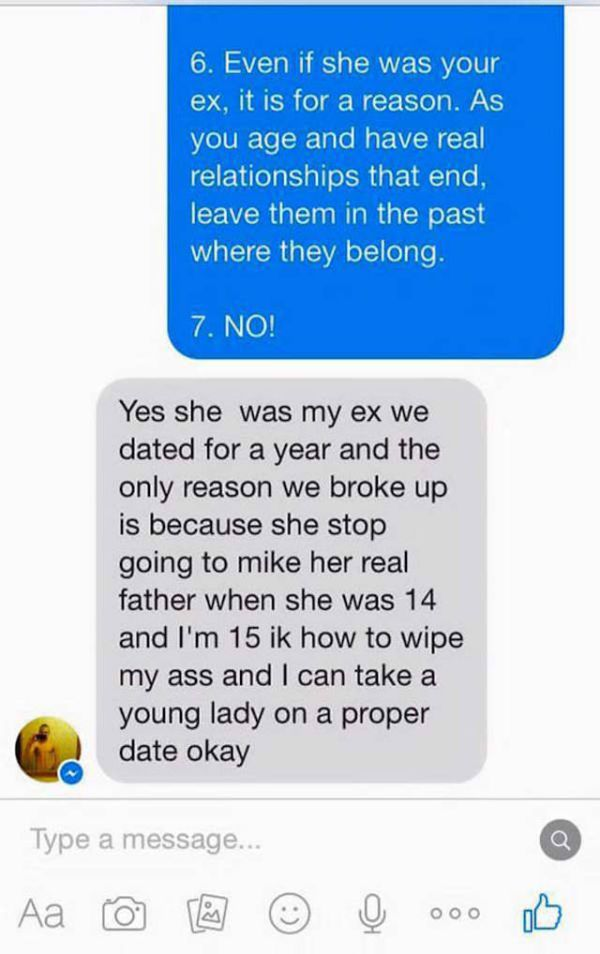 Dad Wrecks His Daughter's Ex-Boyfriend After He Writes To Him On Facebook (21 pics)