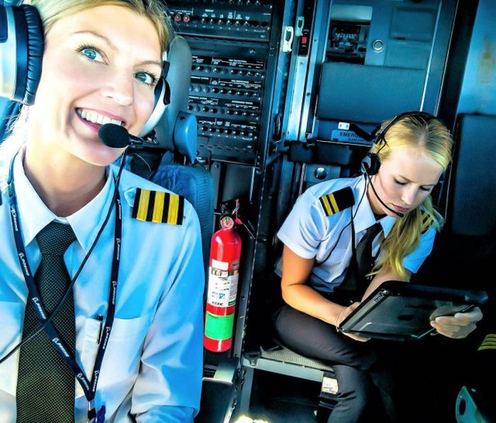 This Gorgeous Blonde Is Sweden's Most Beautiful Pilot (18 pics)