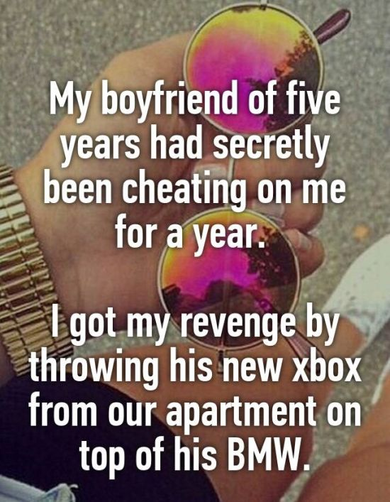 Women Reveal How They Got Revenge On Their Cheating Man (24 pics)