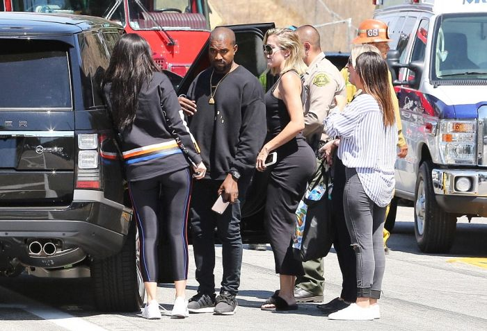 Kanye West And Kylie Jenner Rush To Check On Kris Jenner After She's Hit By A Car (9 pics)