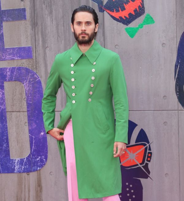 Jared Leto Falls In Love With A Ridiculous Green Coat (4 pics)