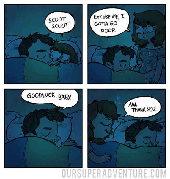 Funny Comics That Capture The Experience Of Living With Your Partner (50 pics)