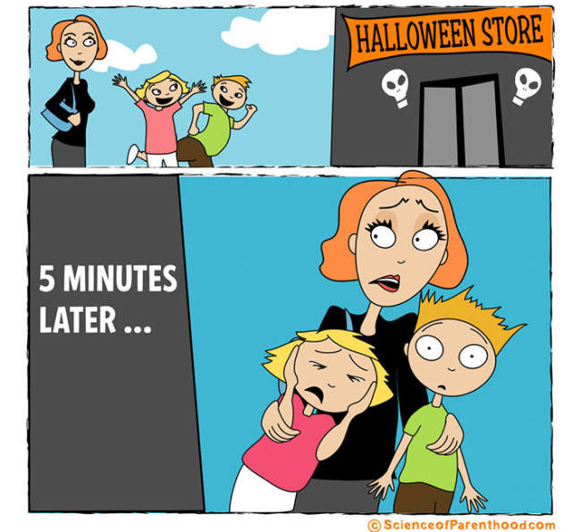 Amusing Comics That Break Down The Science Of Parenthood (40 pics)
