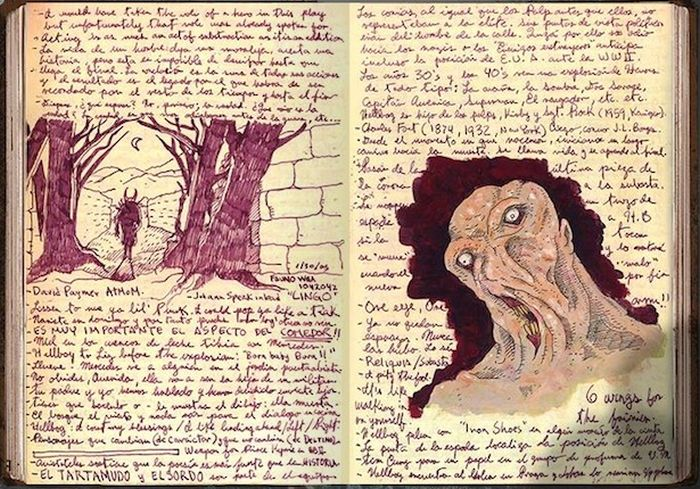 A Look Inside Guillermo Del Toro's Sketchbook (9 pics)