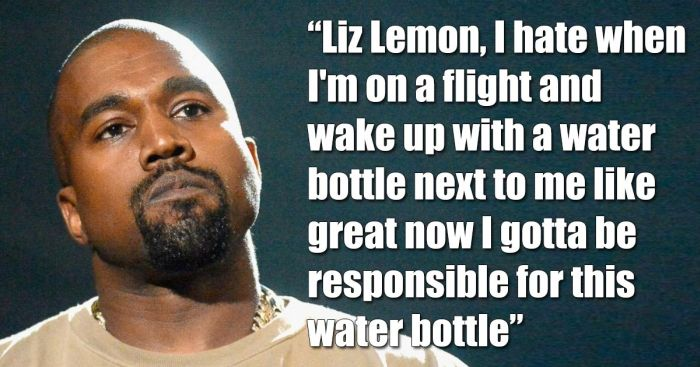 Kanye West Tweets Sound Like Tracy Jordan When You Add Liz Lemon To Them (5 pics)