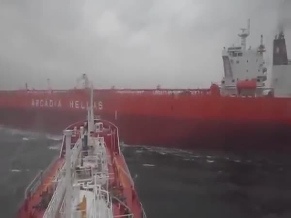 Two Tanker Ships Nearly Collided At High Sea