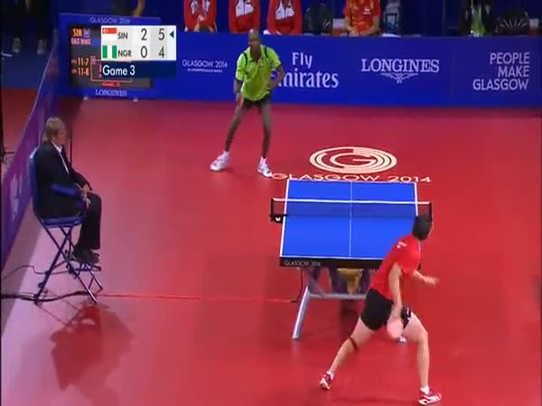 Ping Pong Players Go Nuts In Match China Vs Nigeria