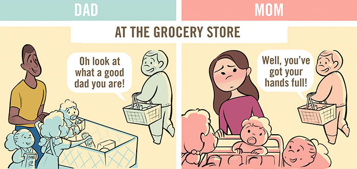 The DIfferences Between Dads And Moms When They Go Out In Public (5 pics)