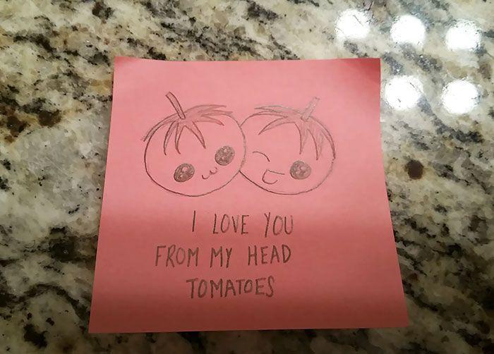 Girlfriend's Cute Love Notes To Her Boyfriend Go Viral (7 pics)