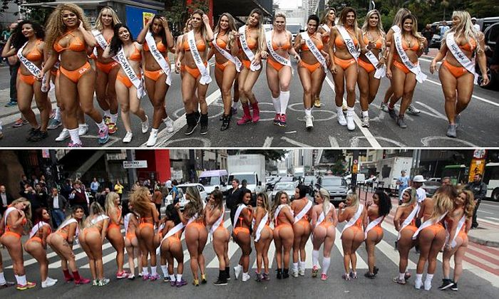 Miss BumBum 2016 Contestants Stop Traffic While Showing Off Their Assets (14 pics)