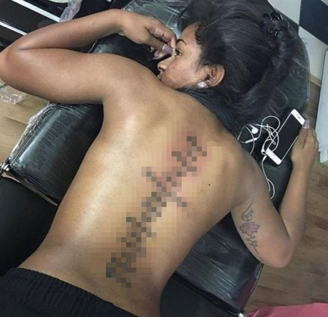 Master Troll Leaves Hilarious Comment On Photo Of Girl's New Back Tattoo (2 pics)