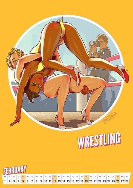Artist Creates Awesome Pin-Up Style Calendar For The Olympic Games in Rio (12 pics)