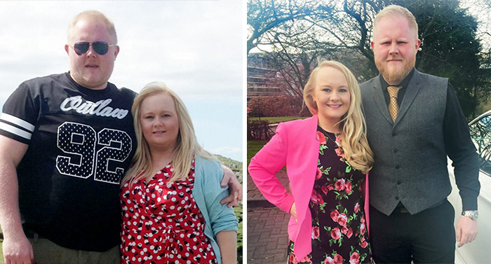 Before And After Photos Of Couples Who Dropped Weight Together (28 pics)