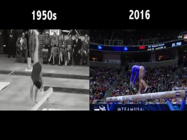 Gymnastics 1960 vs 2016
