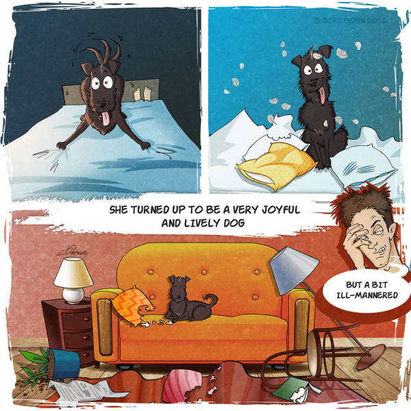 Awesome Comic Tells The True Story Of An Adopted Dog (14 pics)