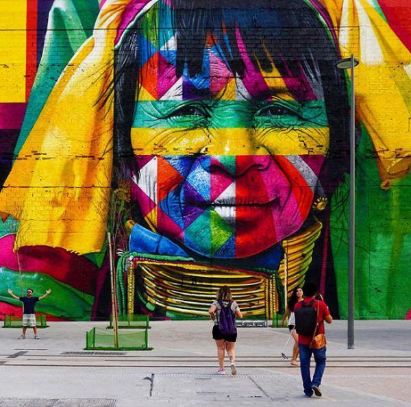 Brazilian Graffiti Artist Creates Breathtaking Mural For The Rio Olympics (8 pics)