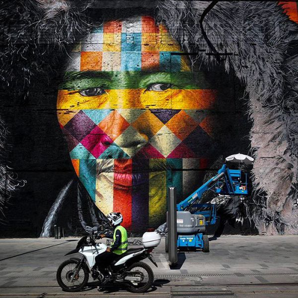 Brazilian Graffiti Artist Creates Breathtaking Mural For The Rio Olympics (8 pics)