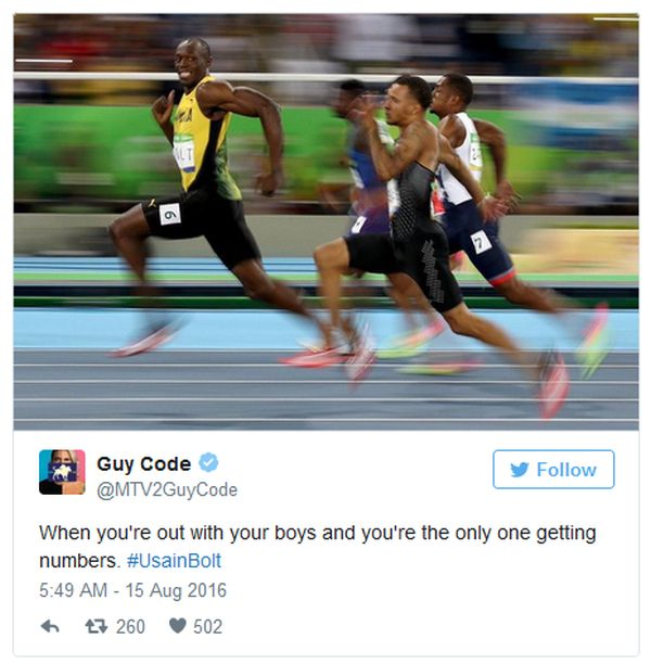 The Funniest Reactions To Smiling Usain Bolt (19 pics)