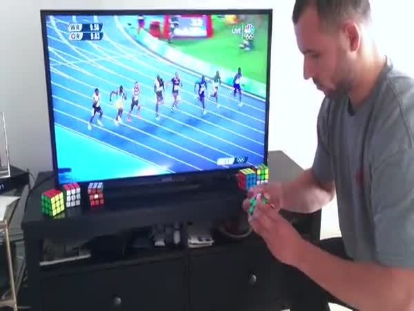 Usain Bolt Vs Rubik's Cube Champion