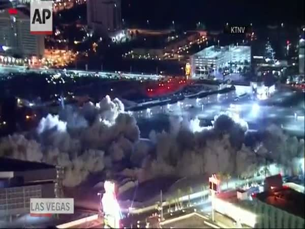 Hotel Demolition in Las Vegas