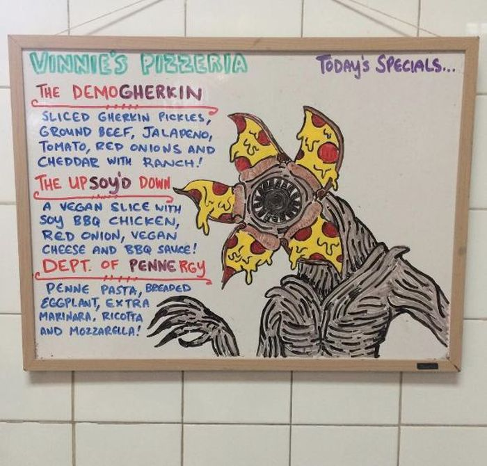 Vinny's Pizzeria Has Fun Specials Inspired By Stranger Things And More (12 pics)