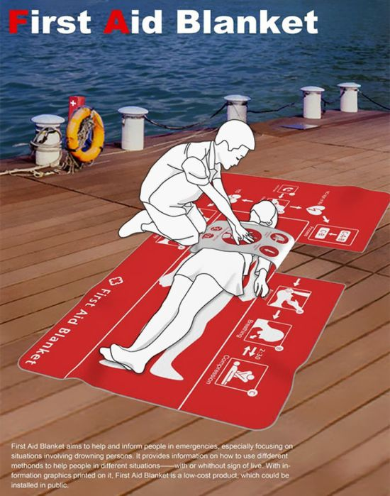 This Clever First Aid Blanket Could Help To Save Many Lives (4 pics)