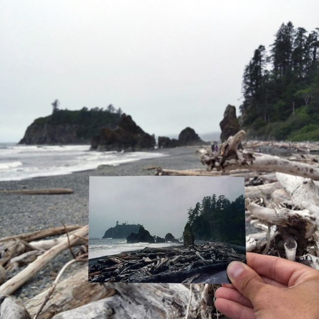 Guy Uses Photographs To Follow In The Footsteps Of His Grandparents (21 pics)