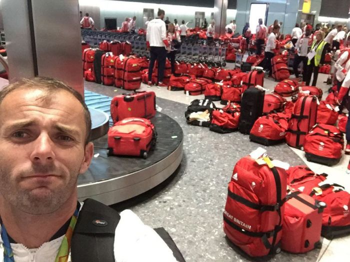 British Olympic Athletes Can't Figure Out Whose Bag Is Whose (3 pics)