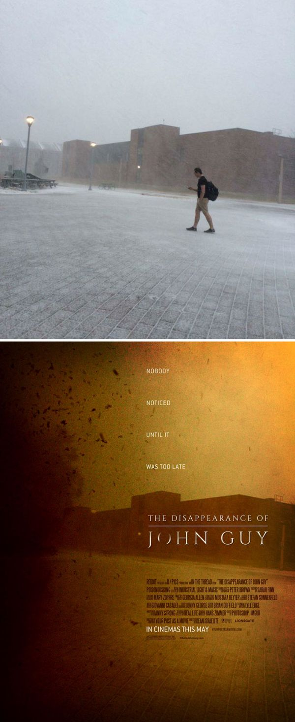 Guy Turns Random People's Photos Into Awesome Movie Posters (35 pics)