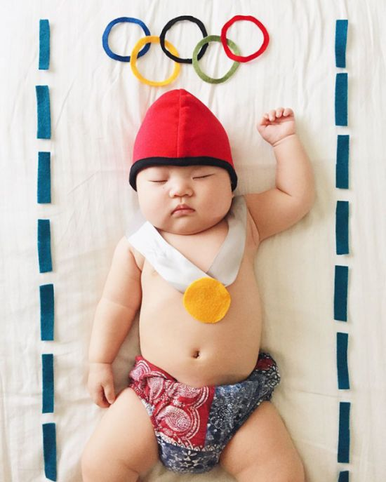 Sleeping Baby Has No Clue She's Secretly A Cosplay Star (28 pics)