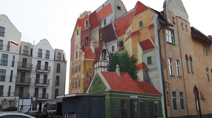 Buildings Create An Epic Optical illusion (2 pics)