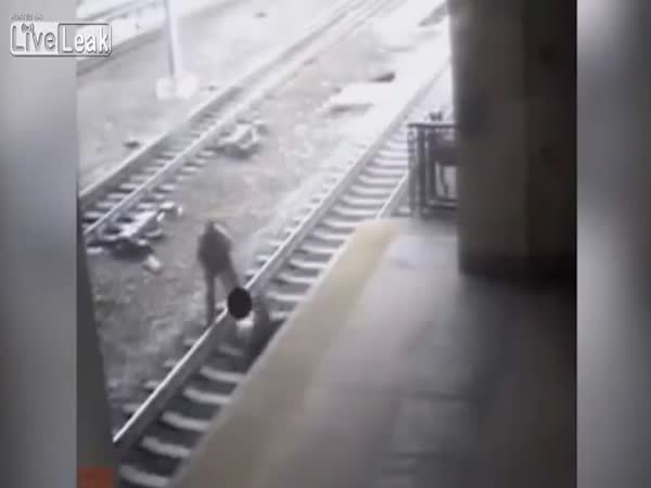 NJ Transit Officer Rescues Man Seconds Before Train Arrives