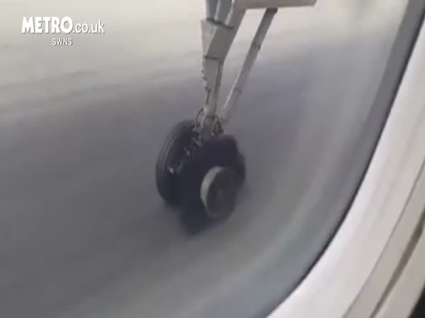 Planes Tyre Explodes During Take Off At Don Muang Airport In Thailand