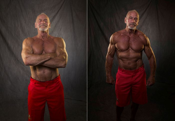 Bodybuilder Compares His Body At 40 And 80 Years Old (2 pics)
