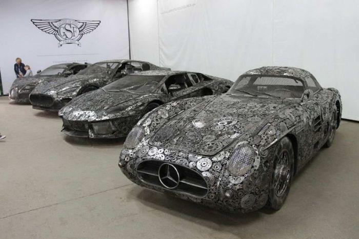 Impressive Car Models Made From Scrap Metal (9 pics)