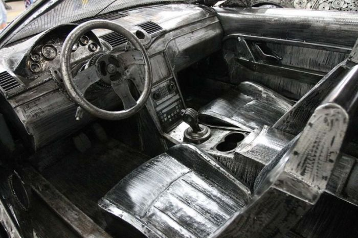 Impressive Car Models Made From Scrap Metal (9 pics)