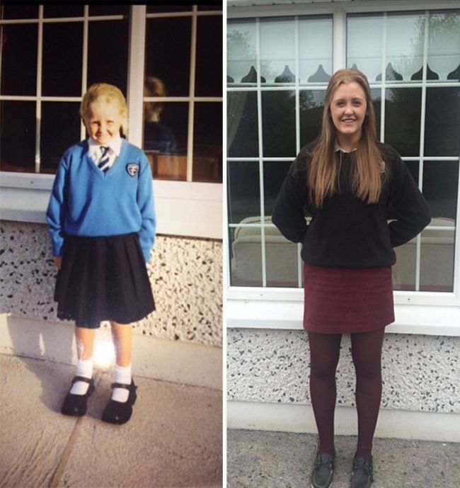 Photos From The First Day Of School Compared To The Last Day Of School (25 pics)