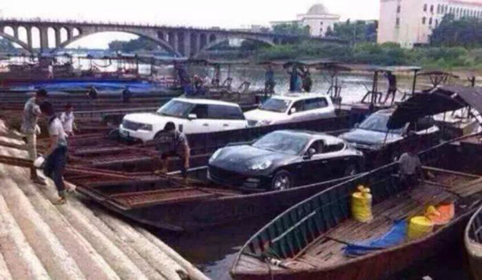 Armored Stealth Boat Used To Smuggle Luxury Cars Into China (9 pics)