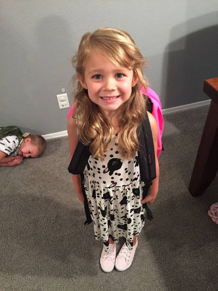 Funny Before And After Pictures Of Kids On Their First Day Of School (21 pics)